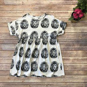 ASOS Petite Lion Print Babydoll Mini Dress 00 A4